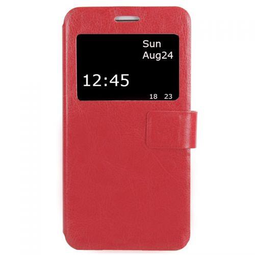 купить Чехол-книжка Lenovo A5000 red Window по низкой цене 199.00грн Украина дешевле чем в Китае