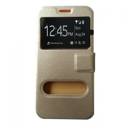 купить Чехол-книжка Meizu M2 (mini) gold Window по низкой цене 179.00грн Украина дешевле чем в Китае