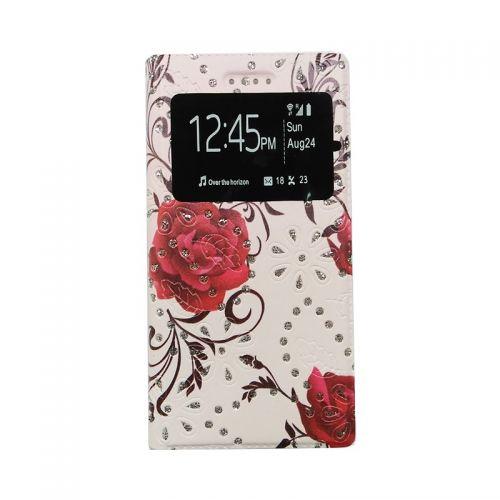 купить Чехол-книжка универсальный 5.0 Rose ruby Window по низкой цене 175.00грн Украина дешевле чем в Китае
