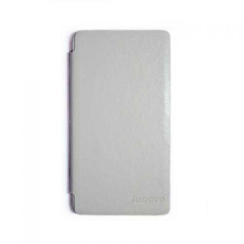 купить Кожаный чехол-книжка Lenovo A358t/A536 white по низкой цене 179.00грн Украина дешевле чем в Китае