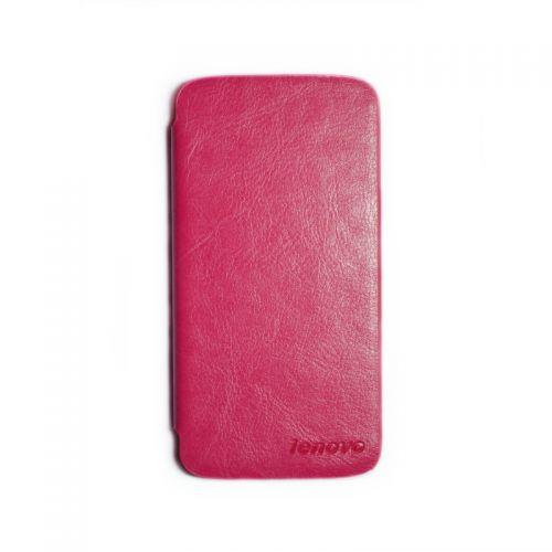 купить Кожаный чехол-книжка Lenovo A670Т pink по низкой цене 169.00грн Украина дешевле чем в Китае