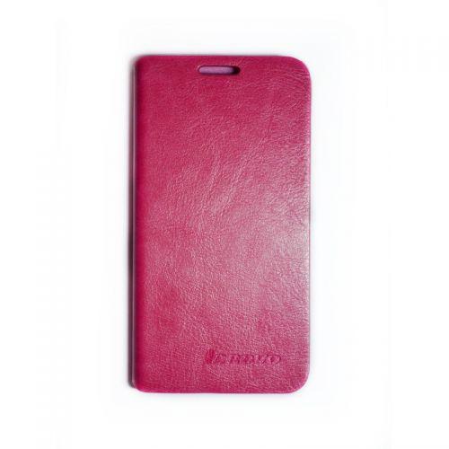 купить Кожаный чехол-книжка Lenovo К910 pink по низкой цене 219.00грн Украина дешевле чем в Китае